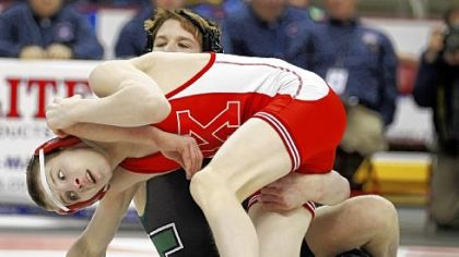 Kittanning's Jason Nolf, front left, (43-1 at 113 pounds) placed third in the PIAA Class AA tournament last season after winning a state title as a freshman.