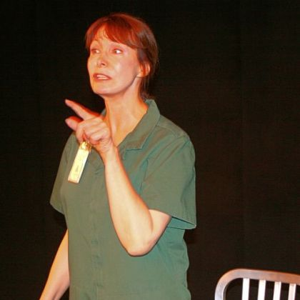 "Anne Stockton in ""The Speed Queen"" for Off the Wall Theater."
