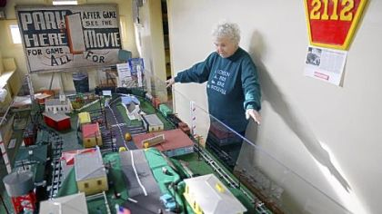 Mary Weise, the president of the Bridgeville Historical Society, talks Friday about its new model train display.