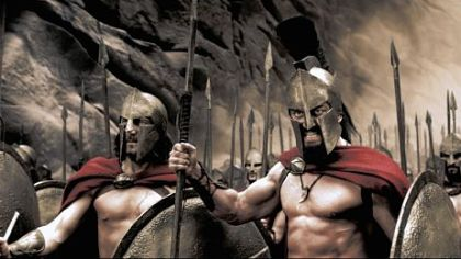 "Vincent Regan and Gerard Butler in ""300.""  The is Gerard Butler's signature role."