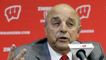 University of Wisconsin&#039;s Barry Alvarez speaks Thursday at his news conference.