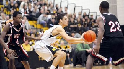Montour's Devin Wilson (center) is one of the state's top point guards.