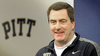 University of Pittsburgh football coach Paul Chryst at a news conference in February.