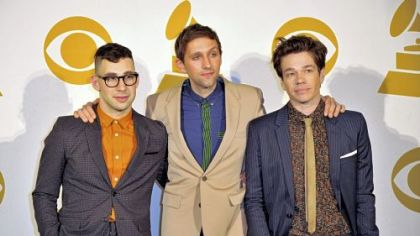 "The band Fun., from left, Jack Antonoff, Andrew Dost and Nate Ruess, was nominated for Album of the Year for ""Some Nights."""
