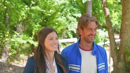 "Jessica Biel and Gerard Butler star in ""Playing for Keeps."""