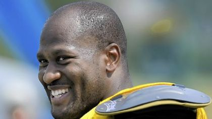 Steelers linebacker James Harrison said he is not 100 percent healthy, but the knee is feeling better each week.