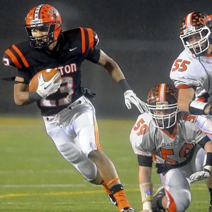 Clairton's Tyler Boyd had another big game. The senior piled up 104 yards and three scores as the Bears advanced to the PIAA title game again.