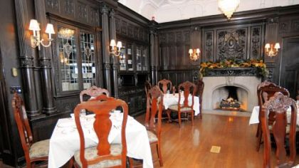 The dining room of the Willis McCook mansion on Fifth Avenue.