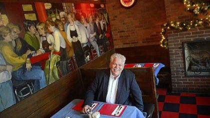 "Rick Sebak waits for lunch at Tessaro's in Bloomfield. Mr. Sebak celebrated 25 years at WQED with ""25 Things I Like About Pittsburgh,"" and Tessaro's is one of the things on the list."