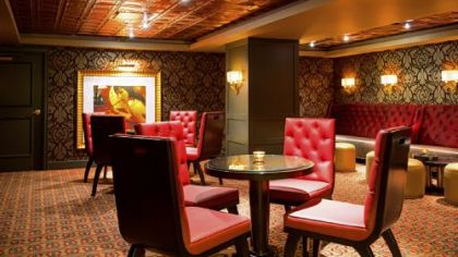 The interior of the Omni William Penn Hotel's new Speakeasy social lounge.