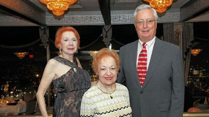 Ann Baldrige, center, with Elissa and Harry Sichi.