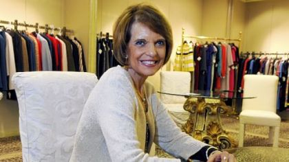 Linda Bucci at her boutique in Shadyside Village.