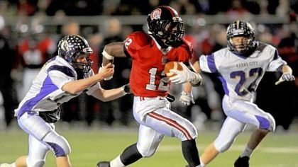 Aliquippa&#039;s Terry Swanson was off to the races during the Quips&#039; PIAA quarterfinal  victory against Karns City.