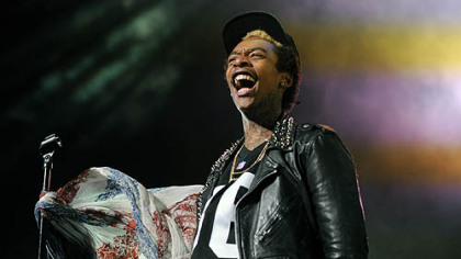 Wiz Khalifa opens with Black and Yellow at Consol Energy Center.