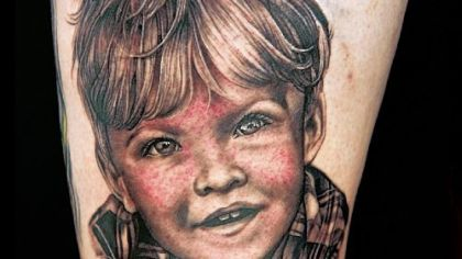 "Pittsburgh's Sarah Miller won the portrait challenge with this tattoo on Spike TV's ""Ink Master"" this week."