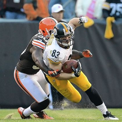 Steelers tight end Heath Miller leads the team in receptions with 61.