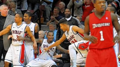 There was much to get excited about on the Robert Morris bench in the second half as the Colonials clobbered the Dukes, 91-69.