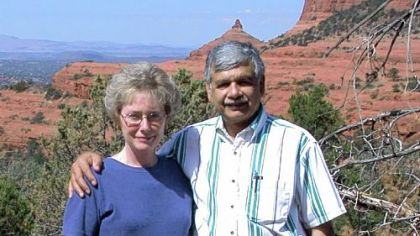 Dr. Amjad Hussain and his late wife Dottie in 2004 in Arizona.