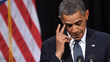 President Barack Obama speaks Sunday at a memorial service for the victims of the Sandy Hook Elementary School shooting in Newtown, Connecticut.