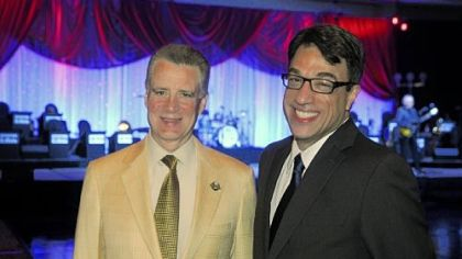 "Honoree Art Rooney, II and  Ted Pappas at Pittsburgh Public Theater's ""You've Gotta Have Art!"""