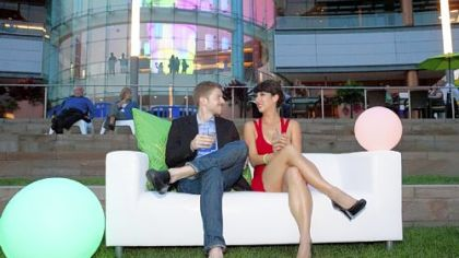 Ian Sulkowski and Elysia Purnell at Riverlife&#039;s &quot;Party at the Pier.&quot;