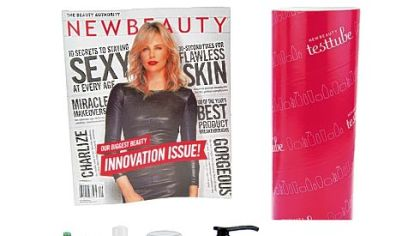 A last-minute gift idea: New Beauty magazine comes with nine test tube samples.