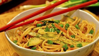 Cold Sesame Noodles from &quot;The Chinese Takeout Cookbook&quot; by Diana Kuan.