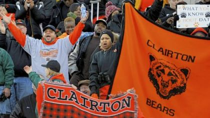 For the 63rd time in a row, Clairton fans celebrate a victory ... this one for the Bears' fourt consecutive PIAA Class A title.