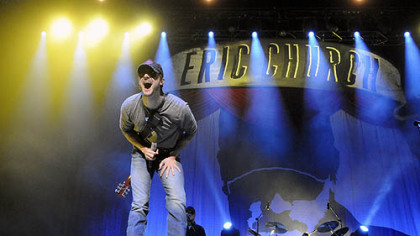 Eric Church performs at Consol Energy Center.