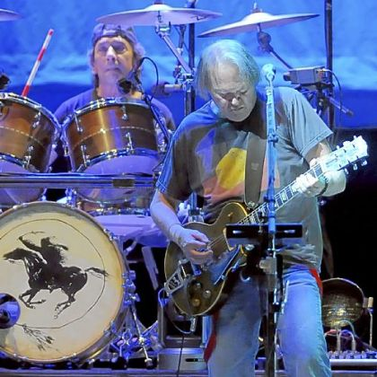 Neil Young performs with Crazy Horse at the Petersen Events Center.