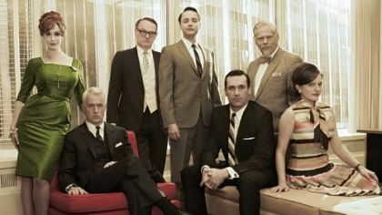 """Mad Men"" -- with Christina Hendricks, left, John Slattery, Jared Harris, Vincent Kartheiser, Jon Hamm, Robert Morse and Elisabeth Moss -- produced another stellar season in 2012."