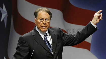 National Rifle Association Executive Vice President and CEO Wayne LaPierre last year in Washington. He spoke this morning, one week after the Connecticut shootings.