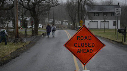 Juniata Valley Road in Geeseytown, Blair County, remains closed while an investigation continues into several killings.