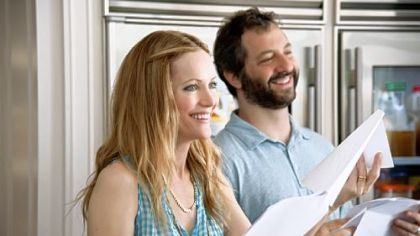 "Spouses Leslie Mann and Judd Apatow based their movie ""This Is 40"" on real-life experiences."