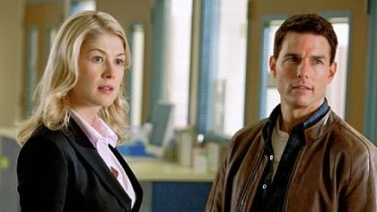 "Rosamund Pike portrays a defense attorney and Tom Cruise is Reacher in ""Jack Reacher."""