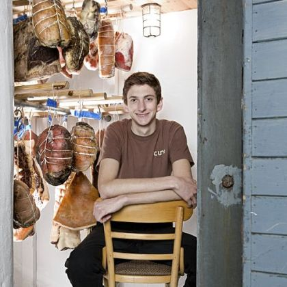 Nate Hobart, 20, is among the youngest cooks in town. He not only is second in command at Cure, but under the guidance of chef Justin Severino he is becoming an artisan butcher and char-cutier.