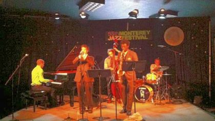 Elevations performs at the Monterey Jazz Festival in California; from left, Brett Williams, Benny Benack III, Anton DeFade, Michael Stephenson and George Heid III.