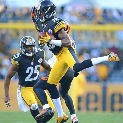 Steelers cornerback Cortez Allen intercepts pass against the Bengals.