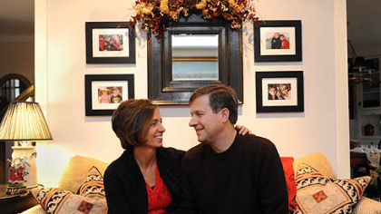Suzanne and Neil Alexander in their home in O'Hara on Wednesday.
