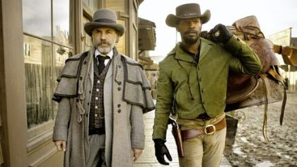 Christoph Waltz and Jamie Foxx in &quot;Django Unchained.&quot;
