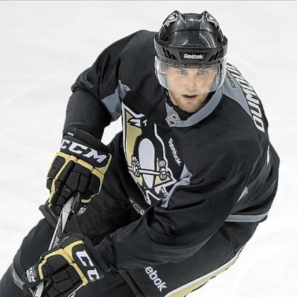 Defenseman Brian Dumoulin at the Penguins 2012 Prospect Development Camp. Dumoulin is rated the seventh-best prospect in the organization.