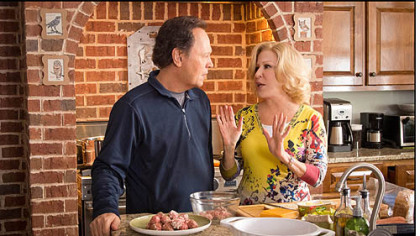 "Billy Crystal and Bette Midler in ""Parental Guidance."""