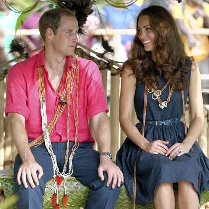 Prince William and his wife, Kate, the Duke and Duchess of Cambridge, shown during a trip to the Solomon Islands in September, will be spending the holidays with her family.
