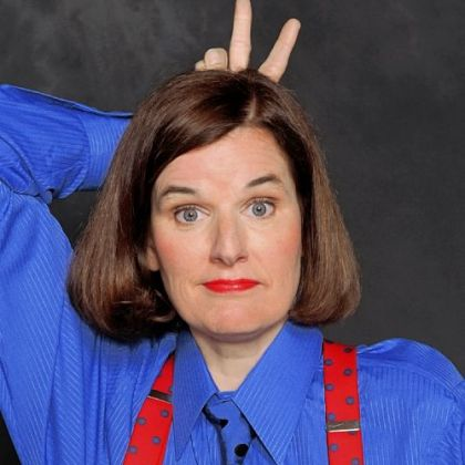 Paula Poundstone describes her stand-up style as visiting a friend you haven't seen for a long time.