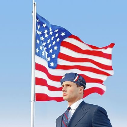 U.S. Olympic swimmer Ryan Lochte modeled this year's controversial Ralph Lauren Team USA uniform.