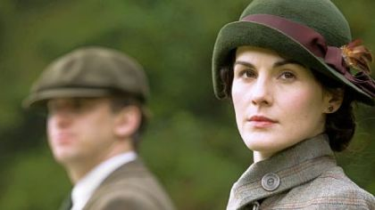 "Dan Stevens as Matthew Crawley, left, and Michelle Dockery as Lady Mary in ""Downton Abbey."""