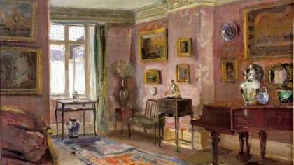 """The Front Parlor"" from ""Interiors: Gilded Age Paintings by Walter Gay"" at Frick Art & Historical Center."