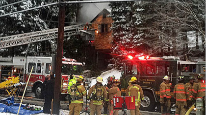 Two people died in a house fire this morning at 916 McNeilly Road, Mt. Lebanon.