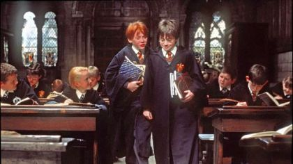 """Harry Potter and the Sorcerer's Stone"" from 2001, starring Rupert Grint, left, as Ron Weasley and Daniel Radcliffe as Harry Potter, might help you maintain the holiday spirit."