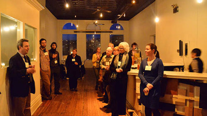 At last month&#039;s &quot;Better Cheese for Pittsburgh&quot; event at Bar Marco in the Strip District, David Lagnese addresses his fellow cheeseheads.